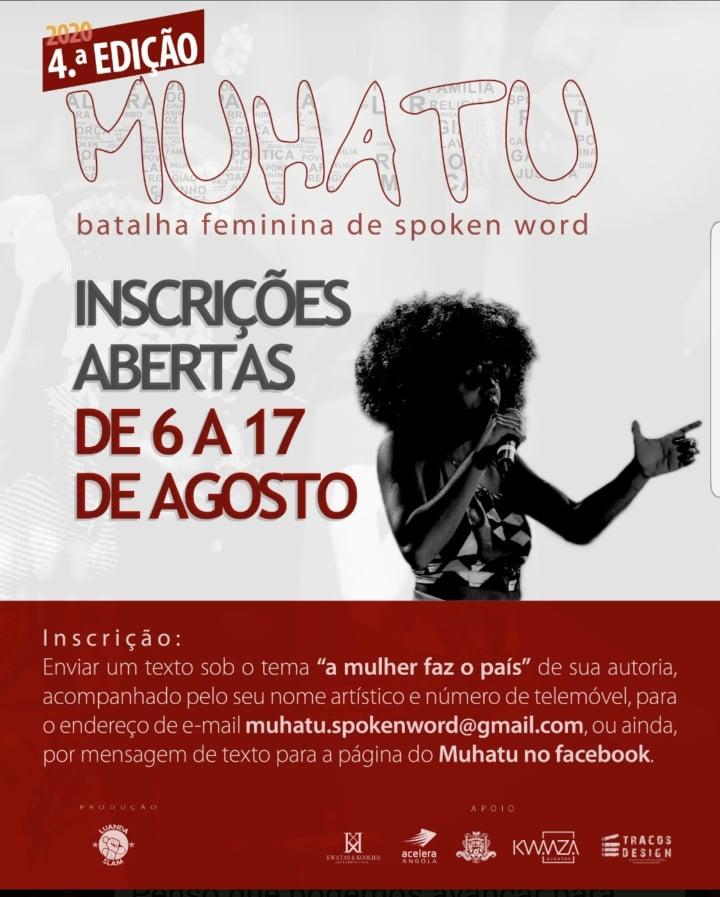 Muhatu: 4ª edição da maior competição de spoken word no feminino acontece dia 29 de Setembro