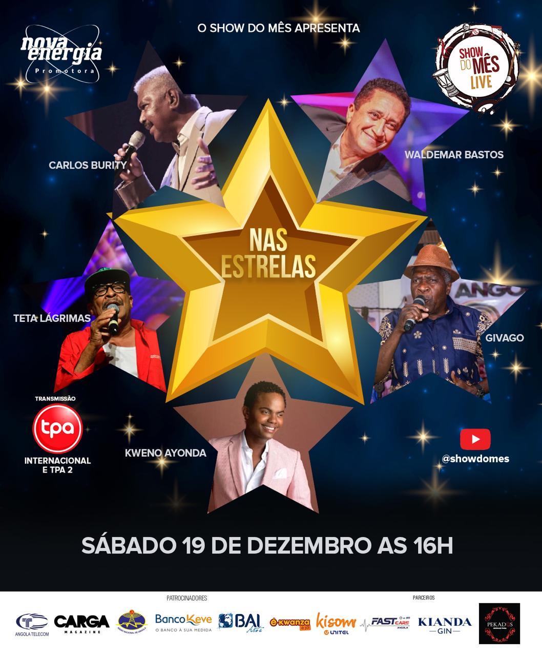 Show Do Mês venera cinco estrelas da música angolana que partiram este ano