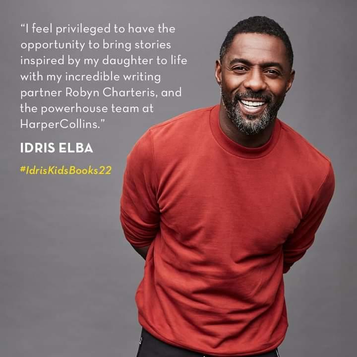 Idris Elba anuncia lançamento de livros infantis inspirados na sua filha