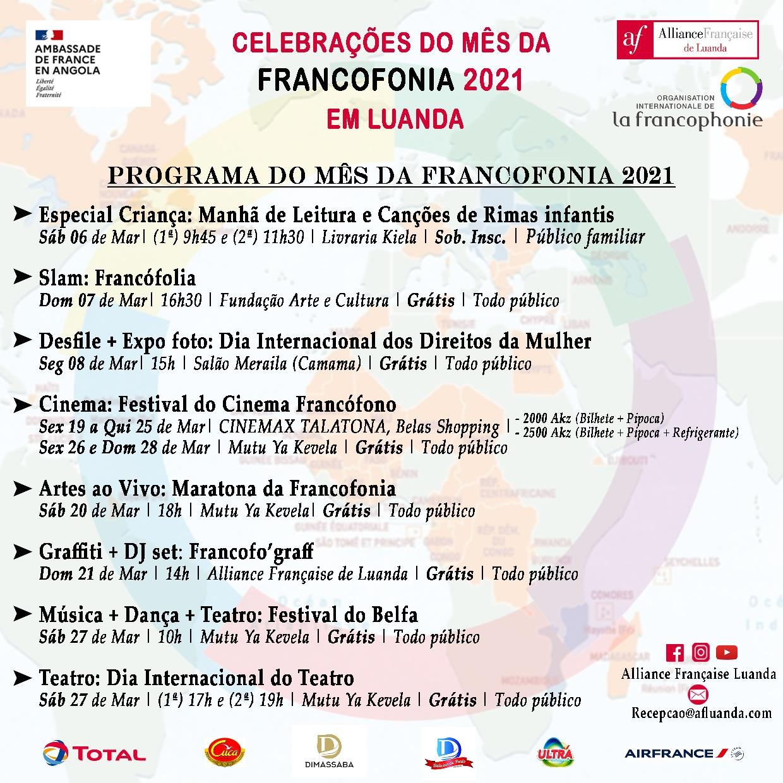Alliance Française de Luanda promove festival multicultural em alusão ao mês da Francofonia