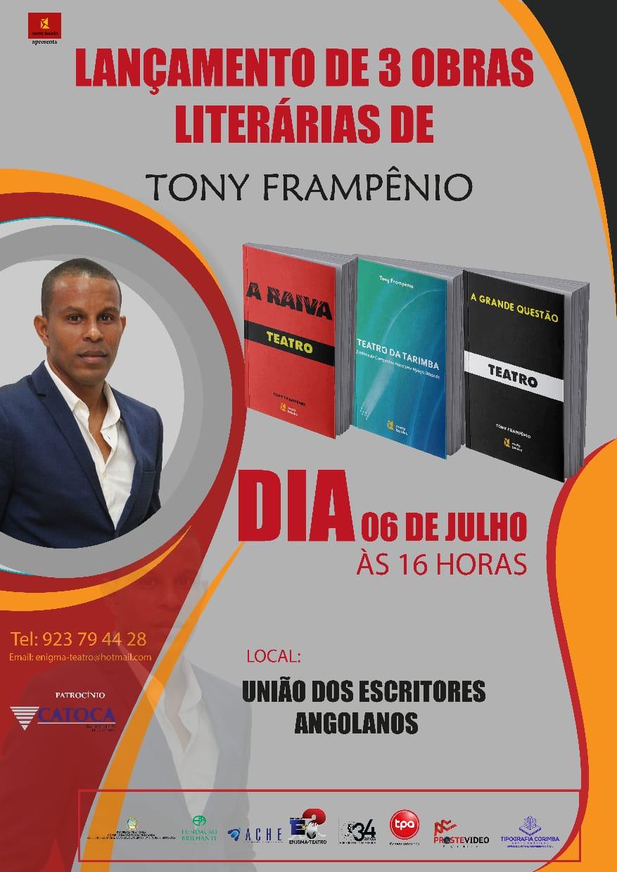 Tony Frampênio enriquece biblioteca teatral com o lançamento de três obras