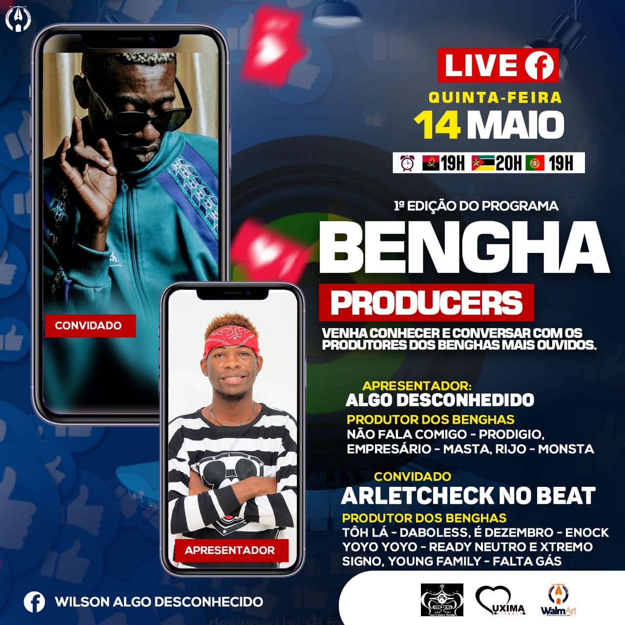 Algo Desconhecido apresenta  hoje a segunda edição do 'Bengha Producers'