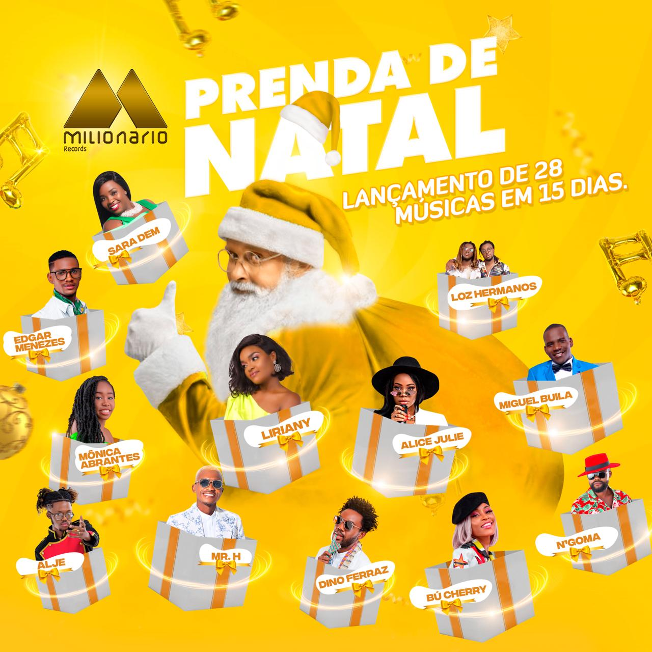 Prenda de Natal: Milionário Records apresenta colectânea musical