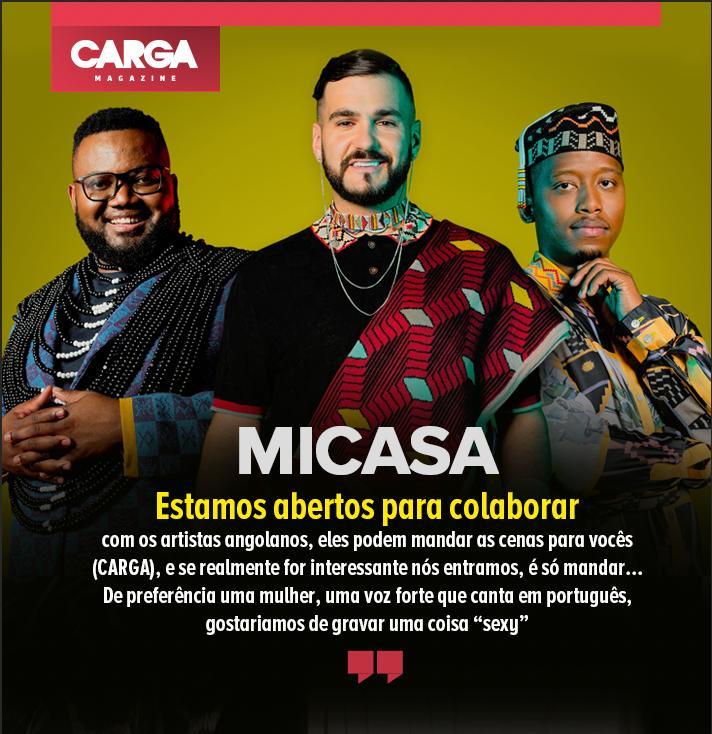 Micasa está disponível para fazer participações com artistas angolanos