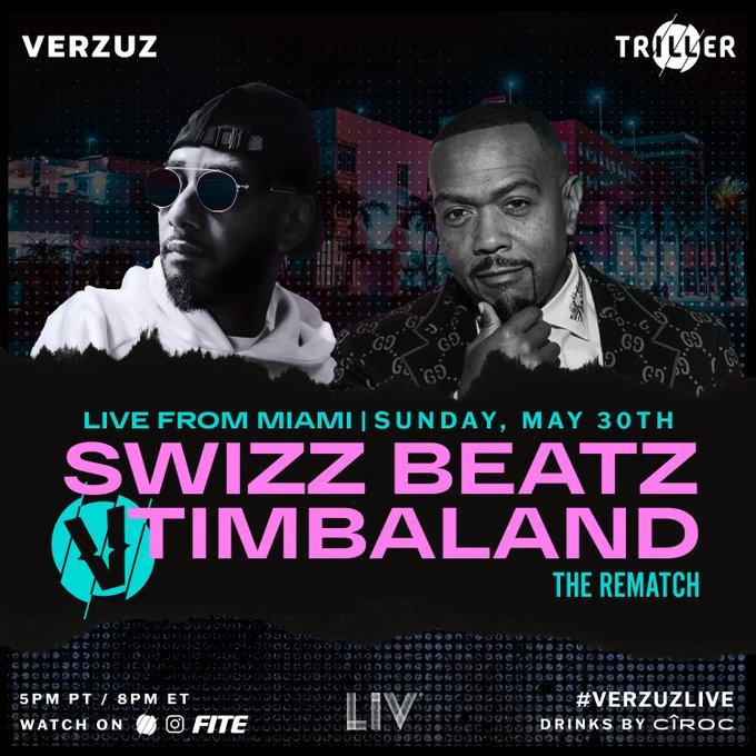 Revanche do 'Verzuz battle' Swizz Beatz vs Timbaland acontece já amanhã