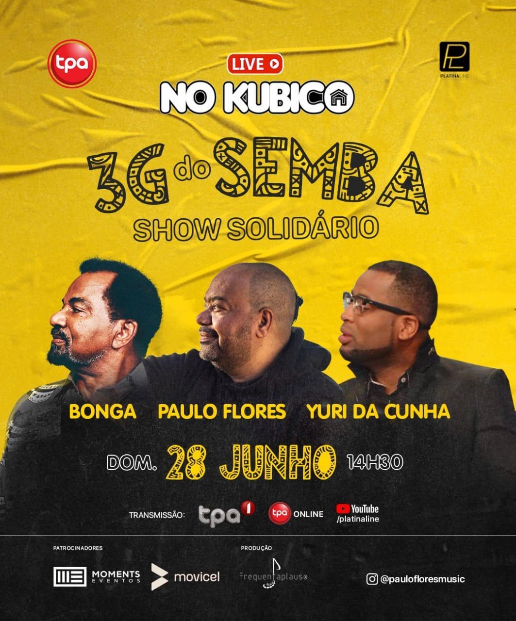 Três gerações do Semba protagonizam live solidário