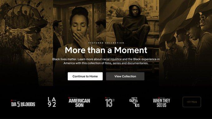 """Netflix adiciona categoria """"Black Lives Matter"""", que traz narrativas sobre experiência negra"""