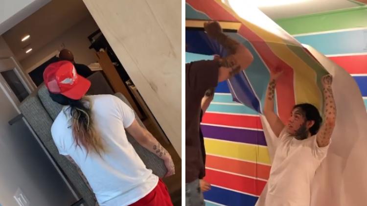 6ix9ine mostra como gravou videoclipes em prisão domiciliar