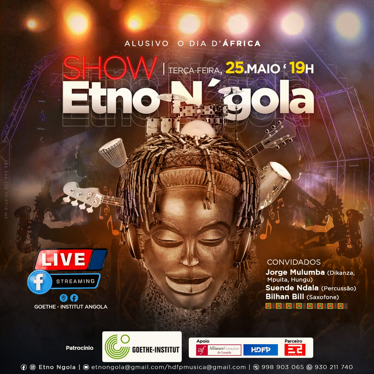 Etno N'gola anuncia show alusivo ao dia de África