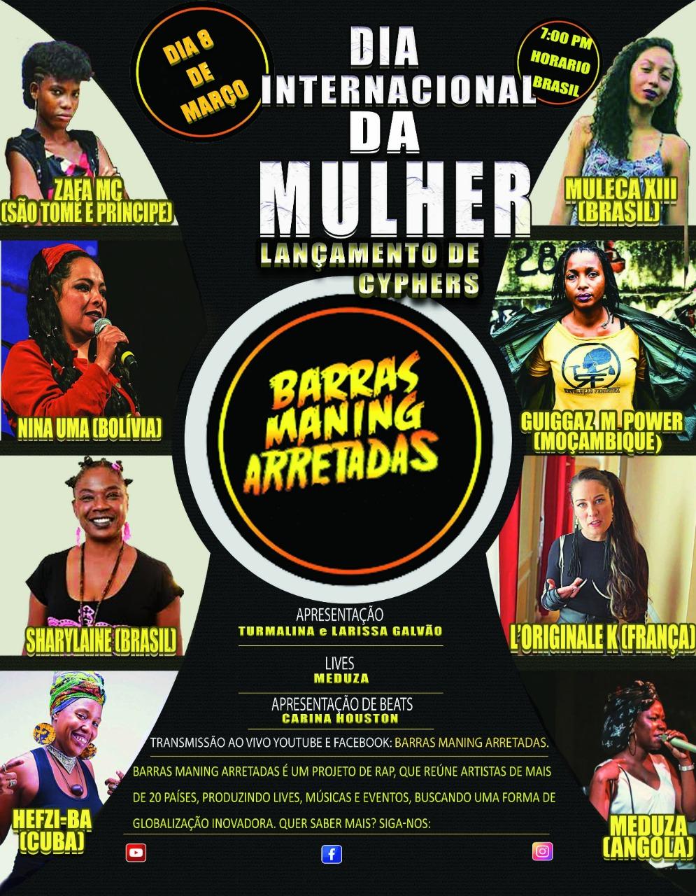 Meduza escolhida para representar rappers angolanas no cypher do Dia Internacional da Mulher