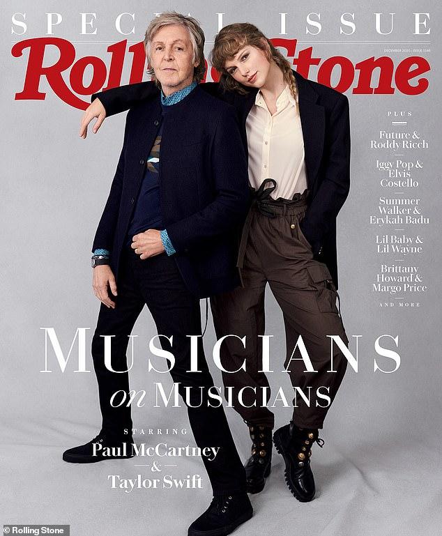 Paul McCartney e Taylor Swift revelam parceria em entrevista à Rolling Stone